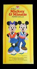 Un-Cut Paper Doll Box Set Mickey & Mi 00004000 nnie Die cuts - 1982 - Whitman