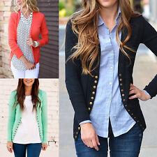 Women Casual Knitted Button Sweater Long Sleeve Outwear Coat Cardigan Jumper Top