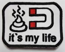 Patch écusson Fun Pistole IT 'S MY LIFE avec Velcro Blanc