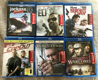 6 BLU RAY LOT Book of Eli Jackass 3 Robin Hood Warlord Knight and Day Cop Out