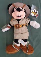 "Minnie Mouse Disney Parks Authentic Safari Explorer Plush Stuffed Toy 11"""