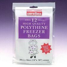 "24 x Caroline Freezer Bags High Quality Thick Kitchen Food Strage Bag 12"" x18"""