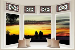 Huge 3D Bay Window A Dreamy World View Wall Stickers Mural Art Decal 56