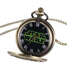 Reloj De Bolsillo Stars Wars Bronce películas de ciencia ficción con el logotipo de Reproducción Antiguo