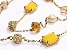 Kate Spade Bijoux Bijoux Necklace NWT Beautiful Double Sided Lemony Gems & Pave