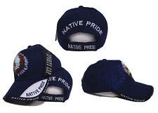 eb617e1fd4e Native American Indian Blue Shadow Baseball Style Ball Cap Hat Native Pride