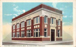 Postcard First Hardin National Bank in Elizabethtown, Kentucky~130009