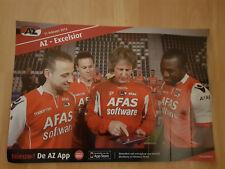 AZ Alkmaar v Excelsior Rotterdam 11-02-2012 paper hand clapper / voetbalklapper