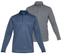 Under Armour UA Storm Heather Snap Mock Golf Pullover - RRP£60 - ALL SIZES