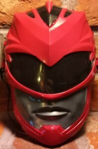 2016 Red POWER RANGER 2017 MOVIE VACUFORM FACE MASK COSTUME Sounds Work mmpr toy