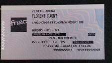 Ticket  du concert de FLORENT PAGNY - Zénith Arena/Lille - 4 avril 1998