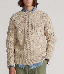 Polo Ralph Lauren The Iconic Wool Fisherman's Sweater - Size S