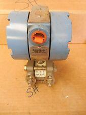 Fisher Rosemount Pressure Transmitter 1151DR2F22B3 1000 PSI 45 VDC 4-20mA Used