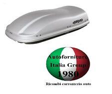 BOX BAULE PORTABAGAGLI TETTO AUTO FARAD MARLIN F3 N8 400LT GRIGIO GOFFRATO