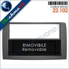Mascherina supporto autoradio 2ISO-2DIN Fiat Idea (2003-2012) grigio + portaogg.