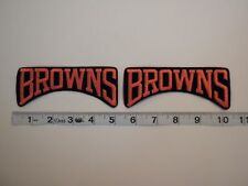 Authentic Cleveland Browns Patch-brown background