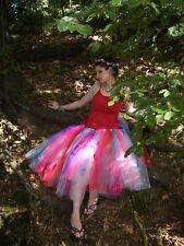 Rainbow fairy cosplay princess tutu net skirt, custom design. 6 8 10 12 14 16 18