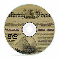 Classic Mining and Scientific Press, 1862 - 1882, 1000 Old Issues Vol 1 DVD V33