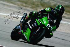 Tom Sykes Signed Kawasaki Photo 12x8 1.