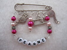Personalised Knitting / Crochet /Sewing Bag / Key Charm Great Gift !
