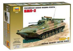ZVEZDA 3554 RUSSIAN INFANTRY FIGHTING VEHICLE BMP-2 SCALE MODEL KIT 1/35