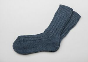 Irish Wool Socks  - Denim Fleck   - Size M = UK 4-7  (EUR 37-41  /  US 5.5 -8.5)