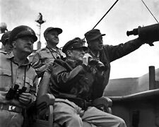 New 8x10 Korean War Photo: Douglas MacArthur & Others Observe Shelling of Inchon