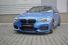 CUP Spoilerlippe SCHWARZ für 1er BMW F20 F21 M Power M1 Frontspoiler Schwert V2