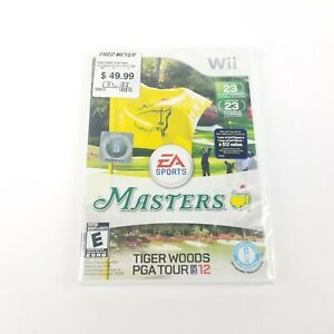 NEW Tiger Woods PGA Tour 12: The Masters (Nintendo Wii, 2011, Sealed)