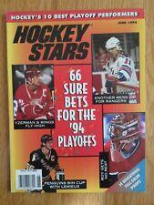 Hockey Stars MARK MESSIER STEVE YZERMAN MARIO LEMIEUX PATRICK ROY 1994 Magazine