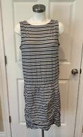 Athleta Blue & White Striped Dropwaist Athletic Dress, Size Medium