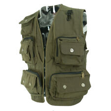 Adjustable Waist Fly Fishing Vest Breathable Mesh Travel Jacket ArmyGreen XL