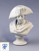 """9944166 Figurine Porcellana Busto """"Friedrich II"""" bisquit Kämmer H15cm"""