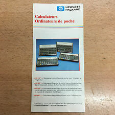 rare catalogue Calculatrice vintage Hewlett Packard HP11 12 15 16 71 calculator