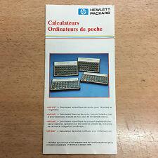 rare catalogue Calculatrice vintage Hewlett Packard HP11 12 15 16 71 calculator
