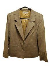 Jones New York Designer Blazer Jacket Coat Size 12 Acrylic Lined Brown