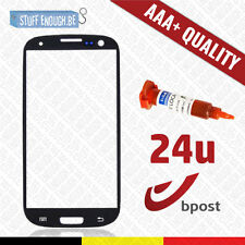 AAA+ FRONT GLAS/VERRE AVANT BLACK + REPAIR GLUE FOR SAMSUNG GALAXY S3 I9300