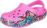 Crocs Kids Fun Lab Multi Butterfly Light Clog Electric Pink Croslite Child Clogs