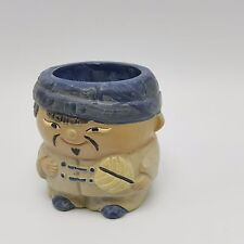 Ceramic Asian Figurine Candle Holder Man Enesco Imports Japan Japanese