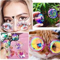 Festival Rave Rainbow Kaleidoscope Round Glasses Diffraction Crystal Lens
