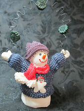 Resin Snowman Throwing Snow balls Ornament Holiday Decoration Christmas Winter