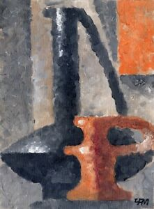 """Expressionist Anatoliy Chudinovskikh """"Kannenfamilie"""" Öl Leinwand 28x20 cm"""