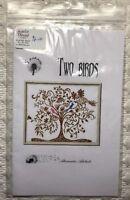 Alessandra Adelaide Needleworks Two Birds Cross Stitch Pattern Tree  Flowers New