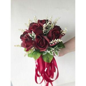 Ramo de rosas para Bodas de seda para damas de honor ramos de novia flores