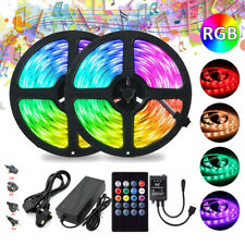 5050 RGB 5M-10M LED Strip Lights Party 20Key Music Controller Power Adapter Kit