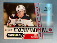 2018-19 Upper Deck Synergy Exceptional Talent RC #18 Josh Mahura 274/749 Rookie