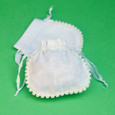 "10 PCS White Drawstring Cotton Pouch Gift Bags Small Bag Jewelry Pouches 3x3"""