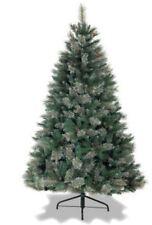 Christmas Tree 7ft Prelit Warm White LED Lights Scandinavian Blue Spruce Xmas
