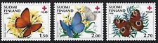 FINLAND :  1990 Red Cross - Butterflies set SG1227-9 MNH