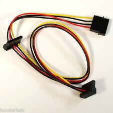 4 Pin Molex 2/Dual 90 Degree SATA Power Cable Adapter,PC Computer Hard Drive SSD